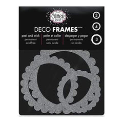 Thermoweb - Glitter Dust Frame Assortment 10 Pack - Scallop Circle Silver