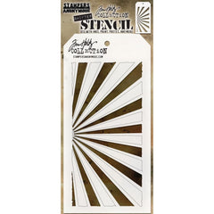 Tim Holtz - Layered Stencil 4.125 inchX8.5 inch - Shifter Rays