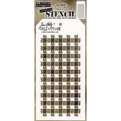 Tim Holtz Layered Stencil 4.125 inchX8.5 inch - Gingham