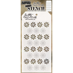 Tim Holtz Layered Stencil 4.125 inchX8.5 inch - Shifter Peppermint