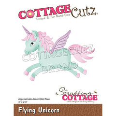 CottageCutz - Dies Flying Unicorn 3 inch X2.3 inch