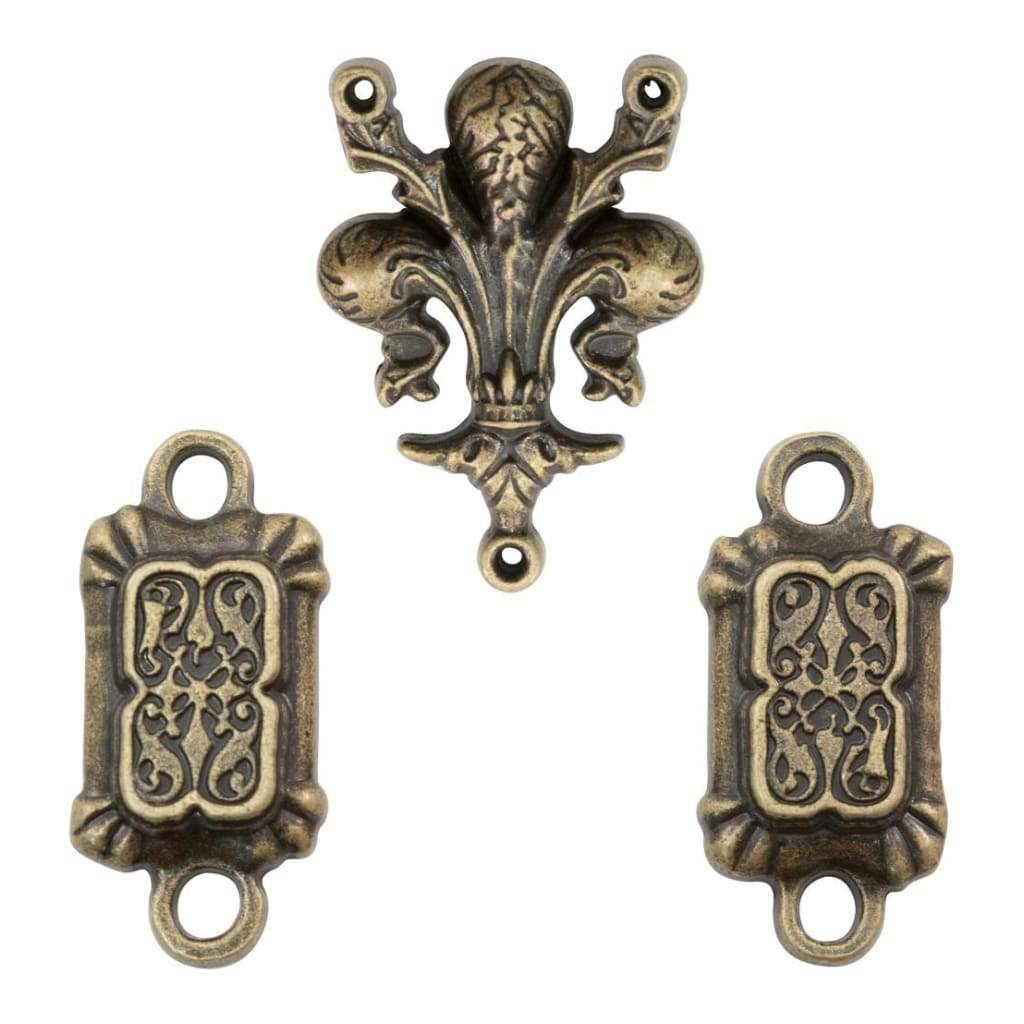 Tim Holtz Assemblage Links 3 pack Provincial Antique Brass