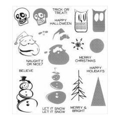 Tim Holtz Cling Rubber Stamp Set 7 Inch X8.5 Inch  Mini Halftones
