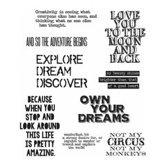 Tim Holtz Cling Stamps 7 inch X8.5 inch Life Quotes