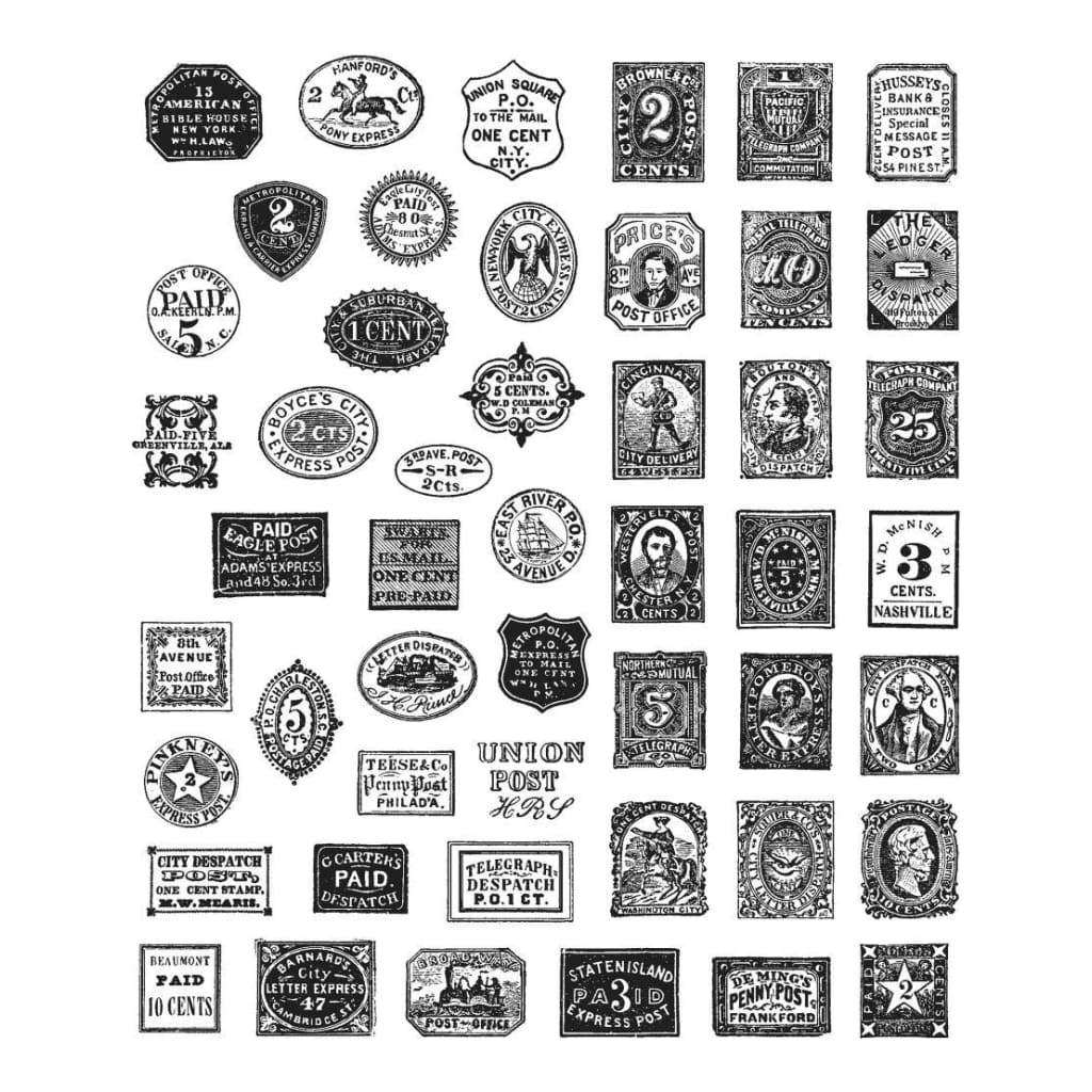 Tim Holtz Cling Stamps 7 inch X8.5 inch Stamp Collector