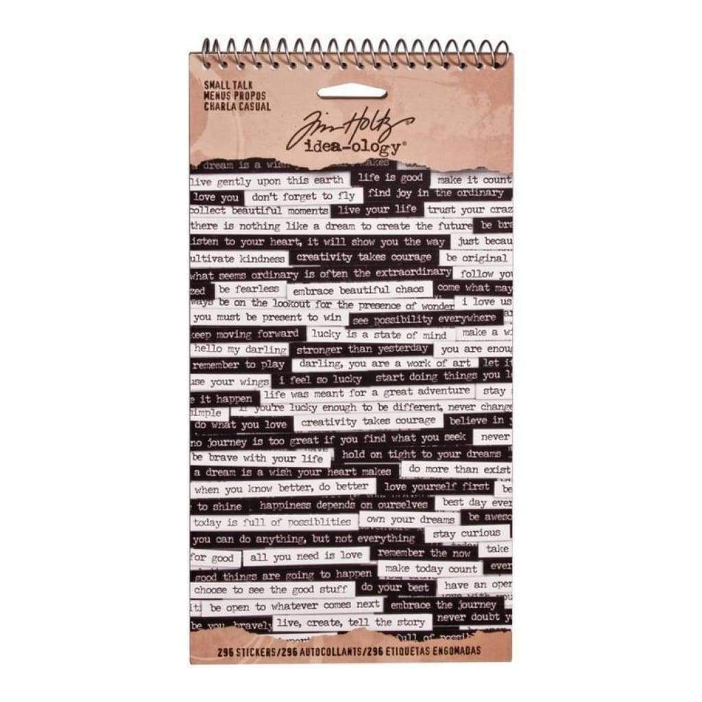 Tim Holtz Idea-Ology - Small Talk Sticker Book