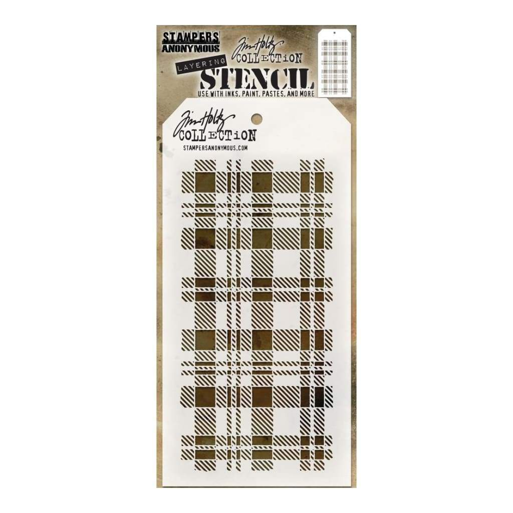 Tim Holtz Layered Stencil 4.125 inch X8.5 inch - Plaid