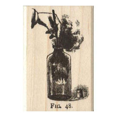 Tim Holtz Red Rubber Stamp - Fig 48