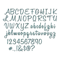 Tim Holtz Thinlits Dies 69 pack Alphanumeric Script, 1 Tall