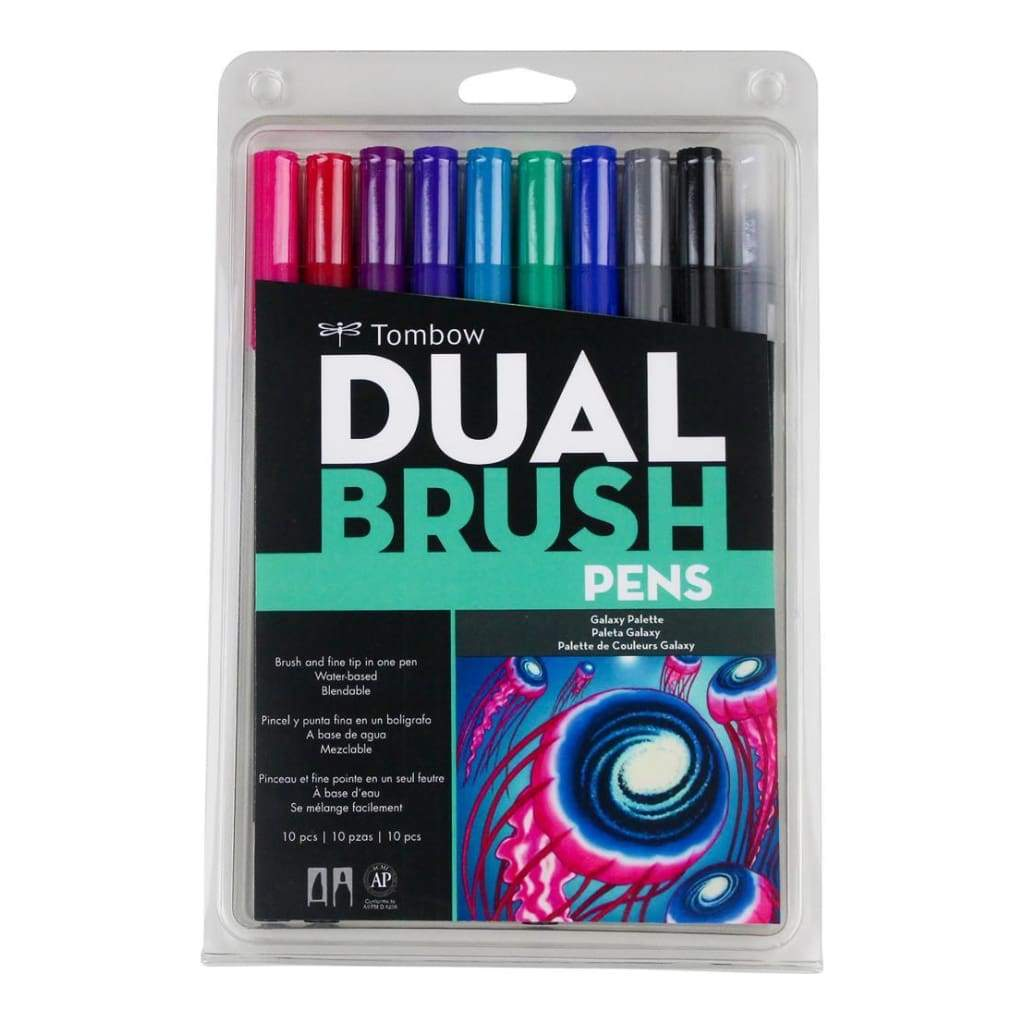 Tombow Dual Brush Markers 10 pack Galaxy