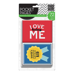 Me & My Big Ideas - Pocket Pages Specialty Cards 72 per package - A Kid's Life