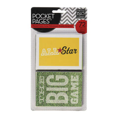 Me & My Big Ideas - Pocket Pages Specialty Cards 72 per package - Sports