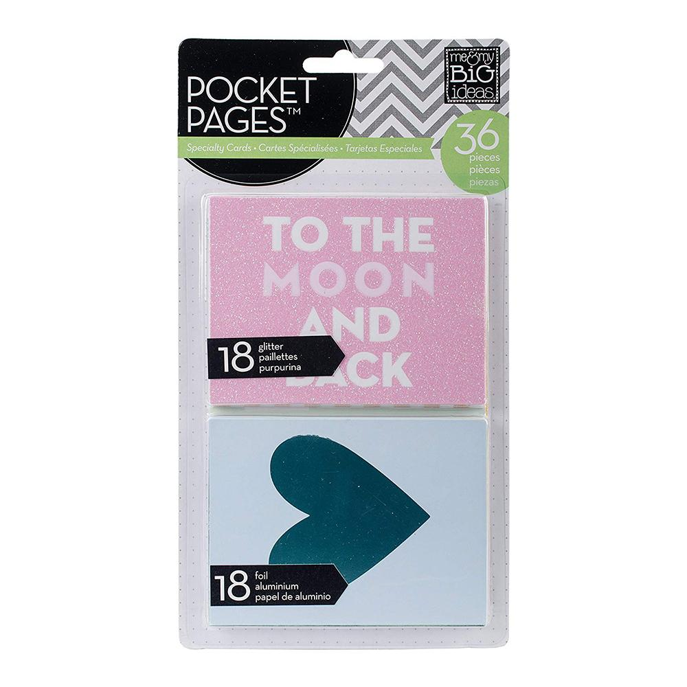 Me & My Big Ideas - Pocket Pages Specialty Cards 3 X 4inch 36 per package - To The Moon & Back