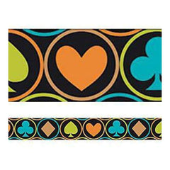 Trends International - Tape Works Tape .625In. X50ft - Clubs Spades Diamonds & Hearts