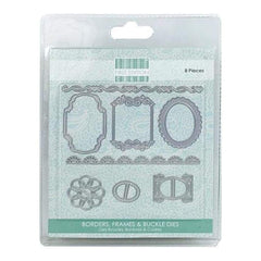 Trimcraft - First Edition Dies 8 Pack  Buckles Frames & Borders
