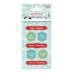 Trimcraft - Helz Cuppleditch Wonderland Adhesive Toppers Sentiments