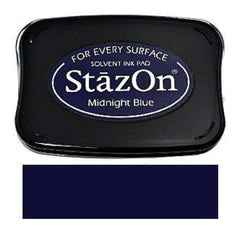 Tsukineko - Stazon Solvent Inkpad - Midnight Blue