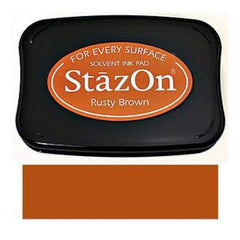 StazOn Solvent Ink Pad - Rusty Brown
