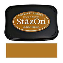Imagine StazOn Solvent Ink Pad - Saddle Brown