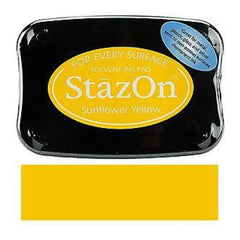 Tsukineko - Stazon Solvent Inkpad - Sunflower Yellow