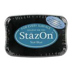 Stazon Solvent Inkpad - Teal Blue