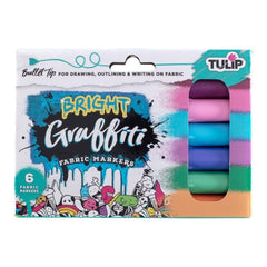 Tulip Graffiti Fabric Markers 6 pack - Brights - Bullet Tip
