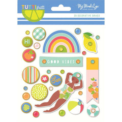 My Minds Eye - Tutti Frutti Decorative Brads 28 pack