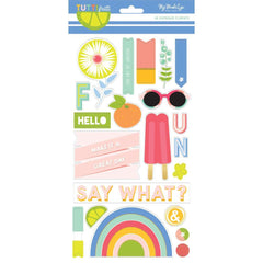 My Minds Eye - Tutti Frutti Chipboard Elements 6inch X12inch 2 pack