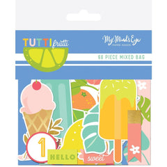 My Minds Eye - Tutti Frutti Mixed Bag Cardstock Die-Cuts 66 pack