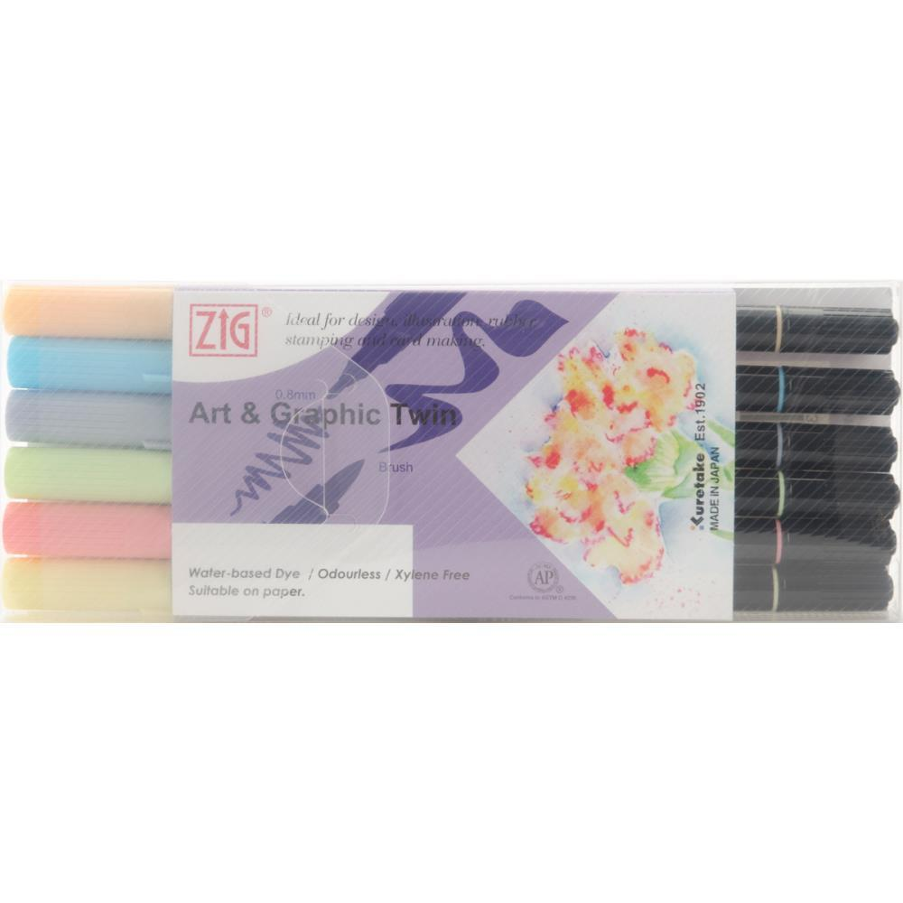 ZIG Art & Graphic Twin Tip Markers 6 pack - All Seasons