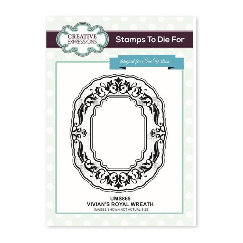 Creative Expressions - Vivians Royal Wreath Pre Cut Stamp