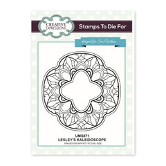 Creative Expressions - Lesleys Kaleidoscope Pre Cut Stamp