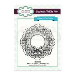 Creative Expressions - Amelia's Holly Wreath Pre Cut Stamp