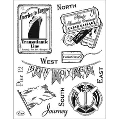 Viva Decor Clear Stamp Set 14cmX18cm - Journey