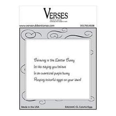 Verses Cling Mounted Rubber Stamp 4.5In. X6.5In.  Colorful Eggs