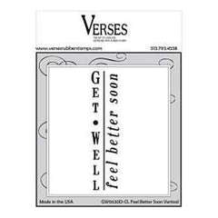 Verses Cling Mounted Rubber Stamp 4.5In. X6.5In.  Feel Better Soon