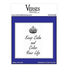 Verses Cling Stamp 4.5 Inch X6.5 Inch  Colour Your Life