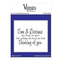 Verses Cling Stamp 4.5 Inch X6.5 Inch  Time & Distance
