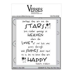 Verses Cling Stamp 4.5X6.5In - They Are Not Stars