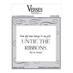 Verses Cling Stamp 4.5X6.5In - Untie The Ribbons