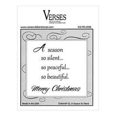 Verses Rubber Stamp Co. - A Season So Silent.Cling Mounted Rubber Stamp