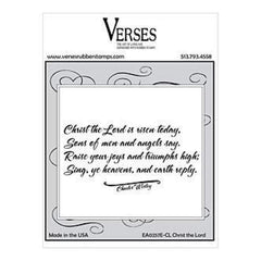 Verses Rubber Stamp Co - Christ The Lord
