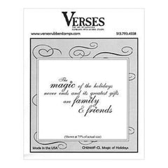 Verses Rubber Stamp Co. - Magic Of Holidays Cling Mounted Rubber Stamp