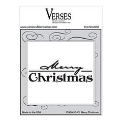 Verses Rubber Stamp Co. - Merry Christmas Cling Mounted Rubber Stamp.