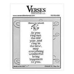 Verses Rubber Stamp Co. - Ring Out Cling Mounted Rubber Stamp.