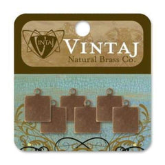 Vintaj - Altered Blank 9Mm Square Tag (6 Pcs)
