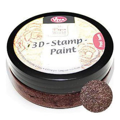 Viva Decor - 3D Stamp Paint 50Ml - Walnut Brown