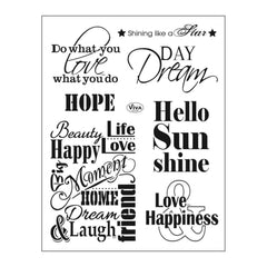 Viva Decor - Clear Stamp Set 14cmX18cm Quotes