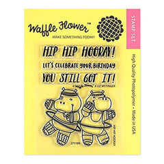 Waffle Flower Crafts Clear Stamps 3inch X4inch Hip Hip Hooray