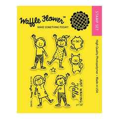 Waffle Flower Crafts Clear Stamps 3X4 Hello